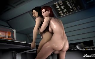 Miranda fucked in futa game xxx mass effect parody