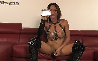 Tranny in sexy lingerie will make your cock hard