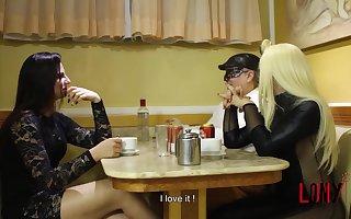 Girl & tgirl make guy eat fruit on their feet - Frutish 3 with Lohanny Brandao & Alica Roche