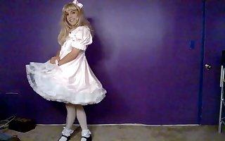 Beautiful sissy in dress